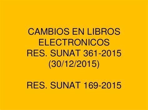 libros electronicos sunat 2016 cambios en libros electronicos 2016