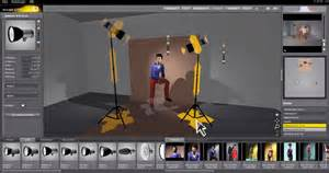 set a light 3d studio simulation d 233 clairage photo de mod 232 les