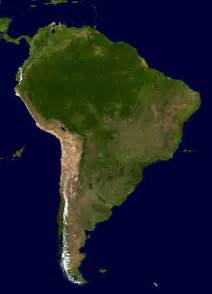 south america satellite map satellite map of south america size