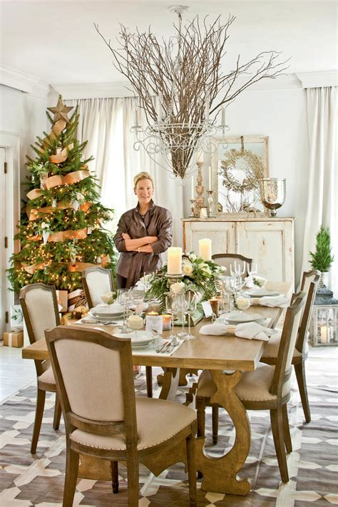 elagant christmas table tops in white theme ideas dinner southern living