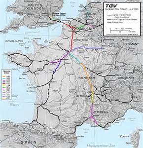 Tgv Route Map by 1 Maps And Schematics