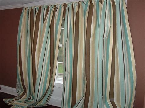 blue and brown curtains home decorating ideas