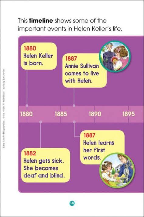 helen keller biography timeline timeline of helen keller s life easy reader biographies
