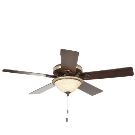 Indoor Ceiling Fan With Light Aventine 52 In Indoor Cocoa Bronze Ceiling Fan With Light Kit 53134 The Home Depot