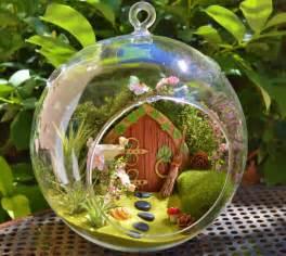Hanging Flower Bags - hobbit house terrarium fairy garden from beach cottage