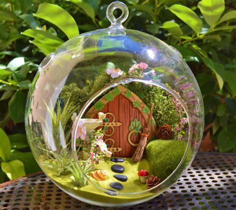 Totoro Car Decor Hanging Globe Mini Garden hobbit house terrarium garden from cottage