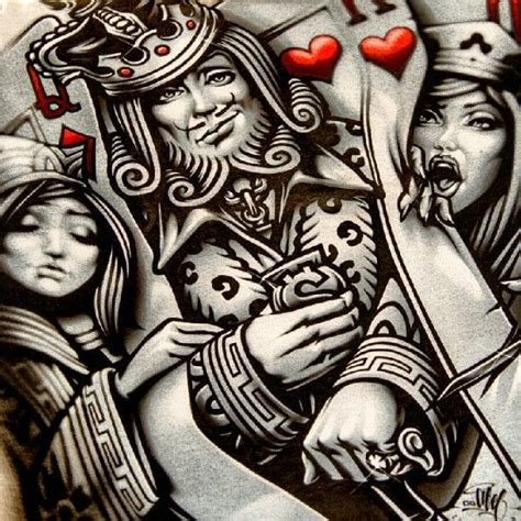 king queen tattoo drawings king and queen playing card tattoo google search art