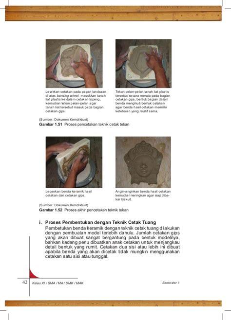 Cetakan Keramik 1 k11 bs prakarya sm 1 sma kelas xi kurikulum 2013 blogerkupang