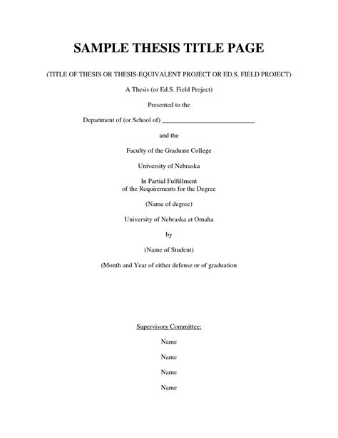 thesis title about preschool education literature review title page exle