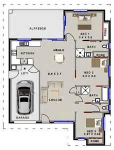 Small Bathroom Floor Plans Australia 3 Bedroom House Plan For Sale Australian Small 3 Bedroom