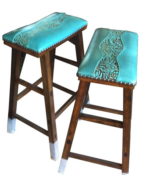 Distressed Leather Armchairs 2 Cowgirl Barstools Custom Design By You Western Style