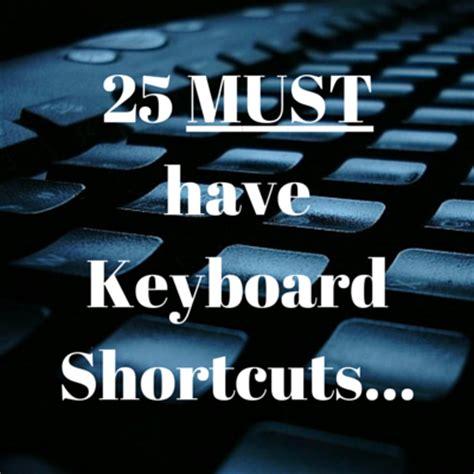 25 must excel keyboard shortcuts excelsupersite