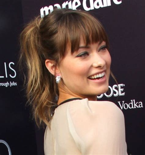 ponytail with tapered bangs hairstyles top 38 olivia wilde hairstyles pretty designs