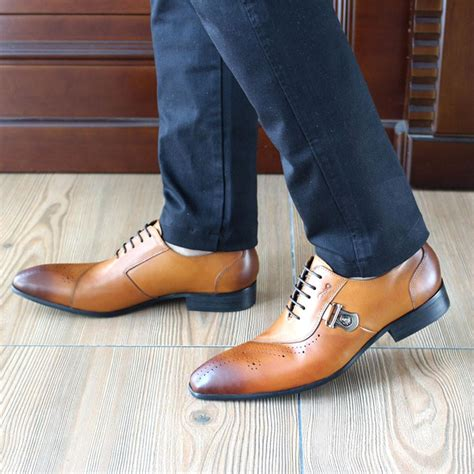 Z Ro Dress Shoes by Italian Style Oxford Shoes With Side Buckle Fanfreakz