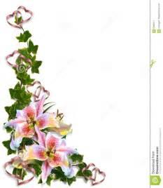lily floral corner design stock image image 5035911