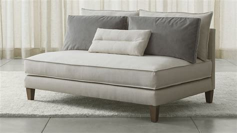 small modern loveseat armless loveseat from crate barrel decoist