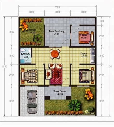 Tempat Gantung Kunci Plus Lu Tidur memilih denah rumah minimalis modern dengan 3 kamar tidur
