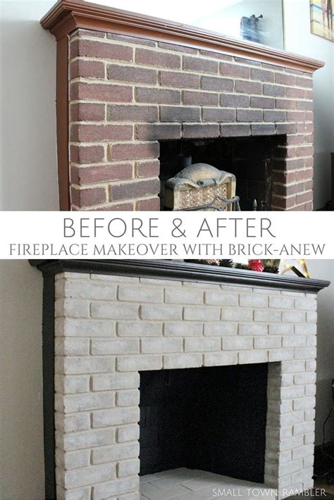 Update Fireplace Brick by 17 Best Ideas About Update Brick Fireplace On