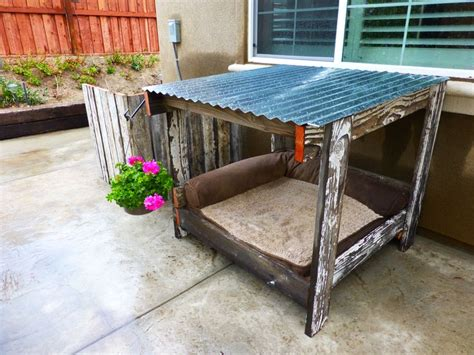 dog house cover dog house old fence wood and a pallet dog house a c