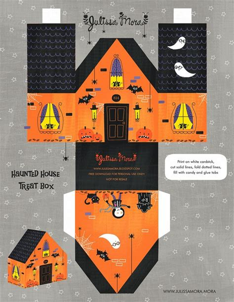 printable haunted house craft free printable haunted house treat box paperhouse