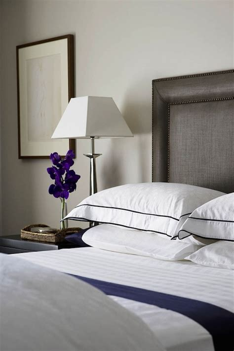 white  navy bedding contemporary bedroom denai