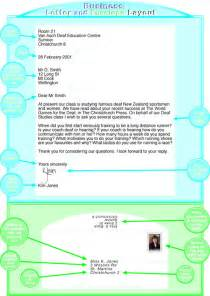 layout of a business letter