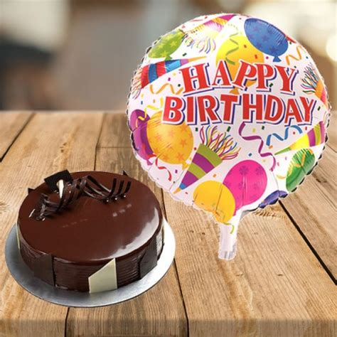 Balon Cake Happy Birthday send cake with happy birthday balloon by giftjaipur