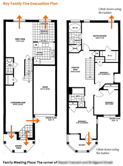 fire evacuation floor plan fire evacuation plan