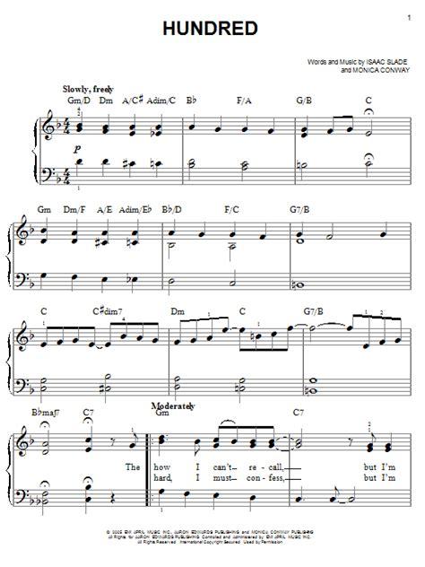hundred th fray partition piano hundred de the fray piano facile