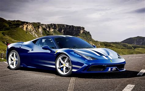 blue ferrari wallpaper ferrari 458 italia speciale azul wallpapers gratis