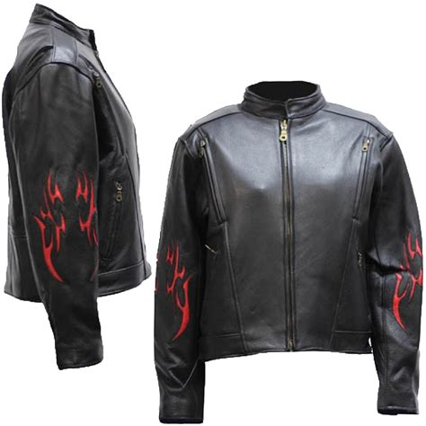 red and black motorcycle jacket ladies black leather racer style motorcycle jacket with
