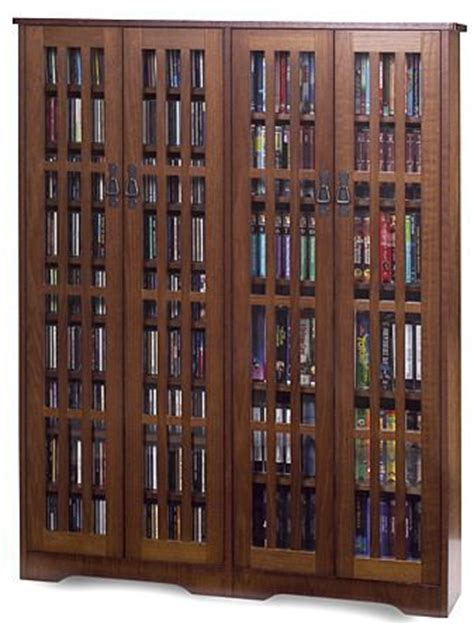 walnut veneer bookcase dvd storage cabinets with glass