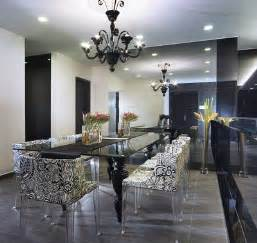 Black Dining Rooms Black And White Dining Room Design