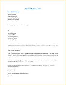 cover letter standard format 6 formal business email format receipts template