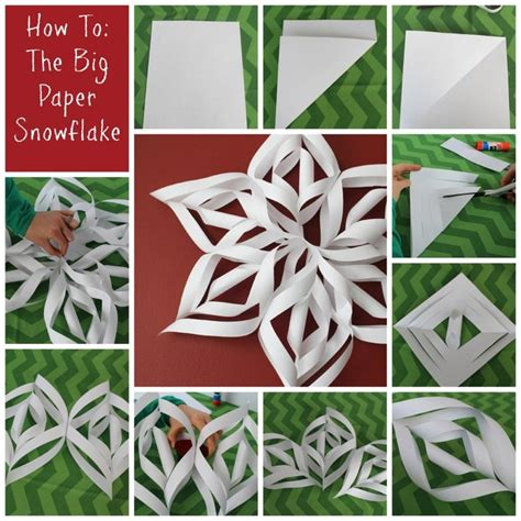 How To Make Big Paper Snowflakes - 25 best ideas about frozen snowflake on