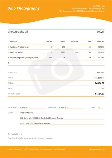 Photography Template Pdf