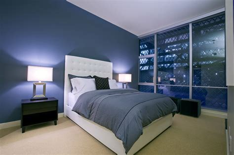 sapphire blue bedroom draw the line design