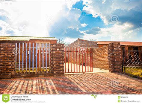 Building Plans Homes Free house with driveway gate soweto stock photo image 27980458