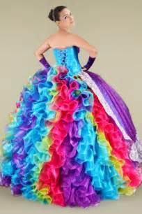 rainbow quinceanera dresses dressed up