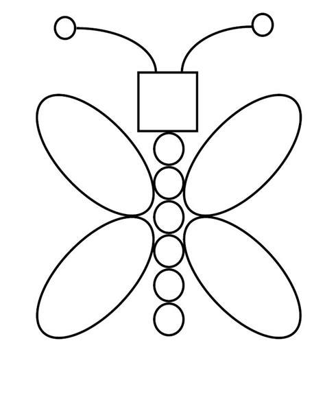 imagenes para colorear con figuras geometricas mariposa formas geometricas dibujalia dibujos para