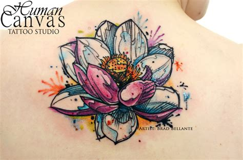 watercolor lotus tattoo designs amazing tattoo ideas