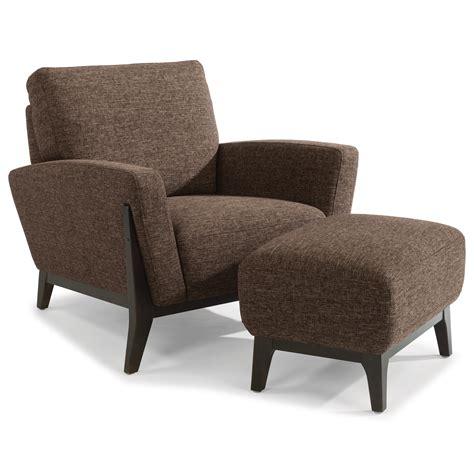 contemporary chair and ottoman set flexsteel latitudes draper contemporary chair and ottoman