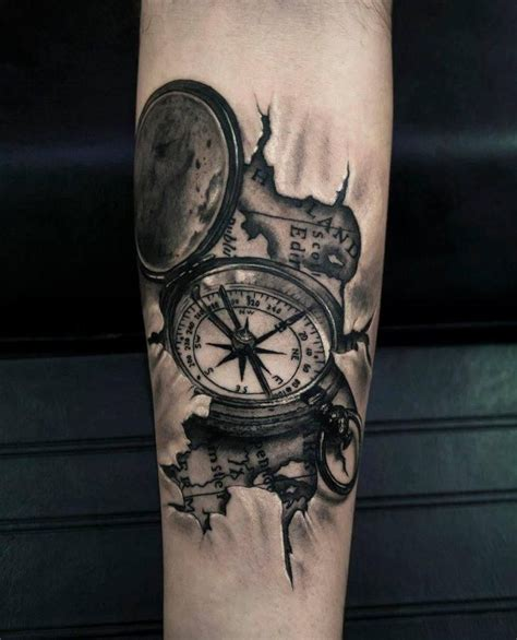 dio tattoo designs 3d compass map by dio at thirio studio athens greece