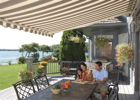 sunsetter motorized retractable awning 20 ft motorized xl retractable awning by sunsetter awnings