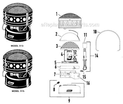 Coleman Patio Heater Parts Coleman 513 700 Parts List And Diagram Ereplacementparts