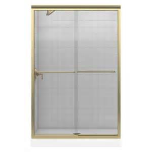kohler bypass shower door kohler fluence frameless bypass shower door in anodized