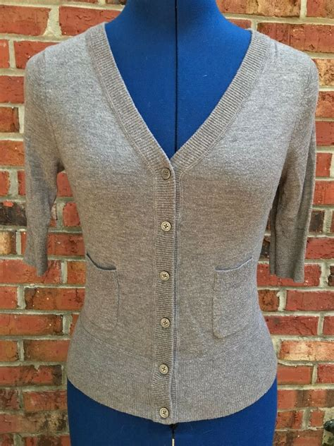 womens target mossimo grey cropped short sleeve cardigan