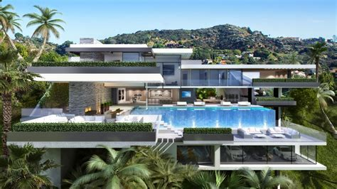 for luxury contemporary mansions on sunset plaza