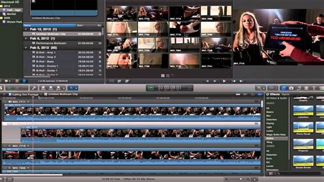 Templates For Cut Pro X cut pro x fcpx true multicam tutorial