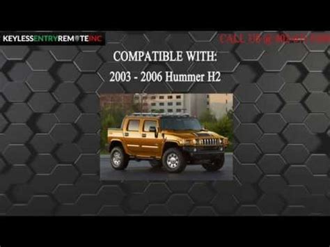 battery for hummer h2 how to replace hummer h2 key fob battery 2003 2004 2005